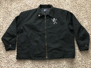 Social Distortion Embroidered Quilted Insulated Dickies 2XL Black Jacket EUC