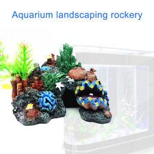 Landscaping Fish Tank Decoration Artificial Mountain Coral Cave Aquarium Decor