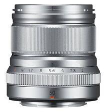 FUJIFILM Single Focus Medium Telephoto Lens XF50mmF2 R WR S  Silver 50mm New