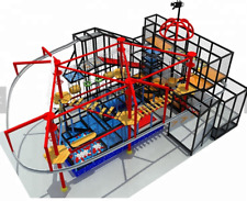 6,000 sqft Commercial Indoor Zip Line Roap Course Playground Soft Play Zone