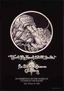 Stanislav Szukalski 1989 La Luz de Jesus poster with RICK GRIFFIN lettering