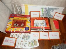 Roald Dahl Puppet Theatre Cardboard figure toy playset Witches BFG Quentin Blake