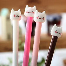 4Pcs Cute Kawaii Fun Black 0.5mm Gel ink Roller Ball Point Pen Cute Cat Korean