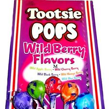WILD BERRY Tootsie Pops Assorted - 50 ct roll chocolate middle Candy lollipops