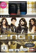Sony ps3 playstation 3 jeu * singstar sing it pop party + 2 micros *** NEUF * NEW