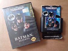 SEGA Mega Drive Batman Returns Game (Boxed) 1992 Retro Gaming, Genesis Case