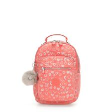 Kipling Small Backpack SEOUL GO S Tablet Protection HEARTY PINK MET BTS19 RP £83