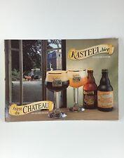KASTEEL CHATEAU Ingelmunster Bier Belgium Beer Sign Advertisement Ad CARDBOARD