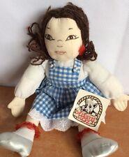 "Wizard Of Oz Vintage Dorothy Beanie Rag Doll 10"" The Resort 1999 Very RARE!"