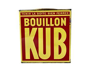 Grande Boîte Ancienne en Métal Publicitaire BOUILLON KUB 162 Barres de 5 Unités