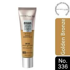 Maybelline Dream Urban Cover SPF50 All-In-One Protective Makeup, 336GoldenBronze