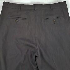 Perry Ellis Portfolio Pleated Front Dress Classic Fit Pants Poly Men's 34 x 32