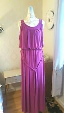 ANNE HARVEY Magenta Sleeveless Maxi Dress With Tie Belt UK 20 NEW