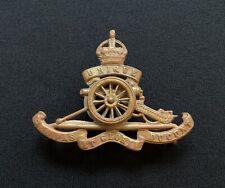 Royal Artillery Spinning Wheel Pattern Cap Badge