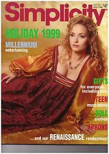 SIMPLICITY HOLIDAY 1999 HOME DECORATING & COSTUME PATTERN CATALOG