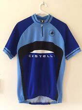 Mens Womens Unisex Castelli 1/2 zip cycling Top T-shirt bike jersey size L Blue