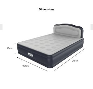 Luxurious King Size YAWN  Self-inflating Airbed Mattress with Built-in Pump;