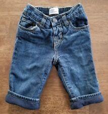 Baby Gap Baby Boys Jeans Size 6-12 Months Blue Denim Dark Wash Fleece Lined