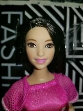 BARBIE Fashionistas 2018 Curvy Doll #101 Hot Mesh Dress and Doll Out of Package