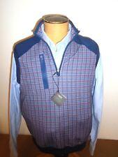 Bobby Jones X-H20 Performance Fabric Blue Plaid Quarter Zip Vest NWT XXL $135
