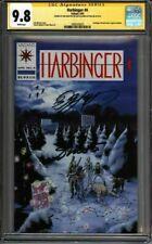 * HARBINGER #4 (1992) CGC 9.8 Signed Shooter Layton Pre-Unity (1600103025) *