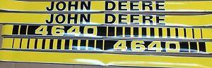JOHN DEERE 4640 HOOD DECALS.