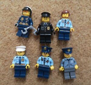 Lego City Police Minifigure bundle (6 figures)
