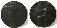 Bronze Medallion For Service In National Emergency May 1926 - 50mm 63g