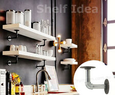 5X Industrial Furniture Vintage Iron Pipe Shelf Wall Mount Bracket Shelving 010B