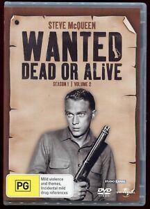 Wanted: Dead Or Alive Season 1 Volume 2 R4 3 DVD TV Series Western Steve McQueen