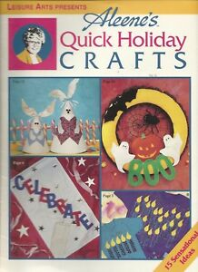 Leisure Arts Aleene's Quick Holiday Crafts 15 Ideas Full Size Pattern 1996