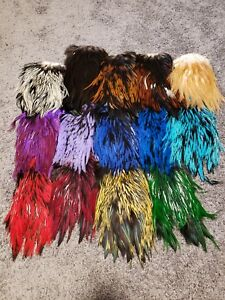 Individual Whiting American Rooster Saddles, Fly Tying, crafting, many colors