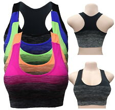 3 - 6 SPORTS BRA BRA YOGA ACTIVE WEAR Seamless RACER BACK TOP FREE SIZE