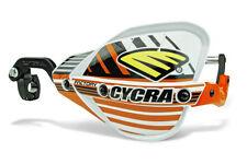 "Cycra Probend CRM Factory Handguards 1-1/8"" Bars White / Orange Shields Pair NEW"