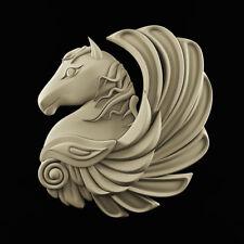 3d STL models for CNC, Artcam, Aspire, relief Horse