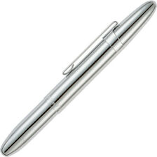 "Fisher Space Pen Bullet Pen Chrome FP4134 with clip. 3 5/8"" closed. Aluminum bod"