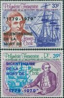 French Polynesia 1979 Sc#C166-C167,SG290-291 Captain James Cook set MNH