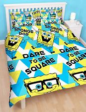 SPONGEBOB Squarepants Felice doppia copripiumino Quilt cover REVERSIBILE KIDS set di biancheria da letto