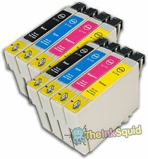8 T0711-4 / T0715 non-OEM Guépard Cartouches d'encre Fits Epson Stylus DX4400 & DX4450