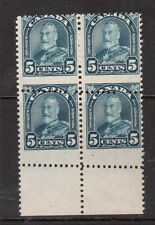 Canada #170 NH Mint Dramatic Misperf Variety Block Of Four