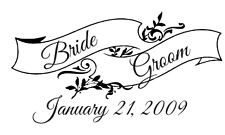UNMOUNTED PERSONALIZED CUSTOM WEDDING  RUBBER STAMPS W37