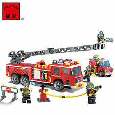 607pcs ENLIGHTEN Fire Rescue Police Truck Fireman Building Blocks Minifigures