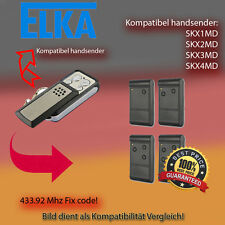 Handsender kompatibel zu ELKA Garagentor SKX1MD,SKX2MD,SKX4MD