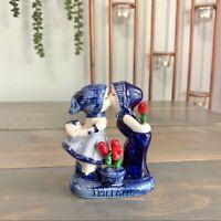 Vintage Delft Porcelain Figurine Deco Holland Collectible Blue White