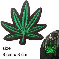 Hemp leaf Iron on patch - legalise Hashish plant leaves green iron-on patches