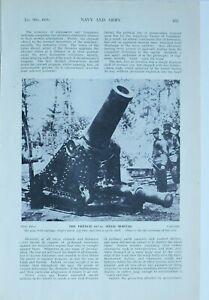 1915 WW1 ARTICLE & PICS GUNS v FORTRESSES FRENCH SINGLE SIEGE MORTAR
