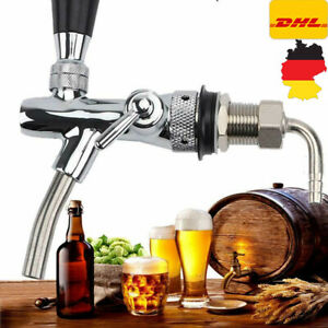 Kompensatorschankhahn mit Schaumtaste chrom Zapfhahn Edelstahl Bier zapfen DHL