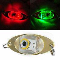 2Pc LED Tief Tropfen Unterwasser Auge Form Fischen Köder Licht Blinkend Lampe