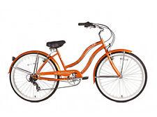 """Micargi 26"""" Pantera 7 speed Lady beach cruiser bicycle bike Orange"""