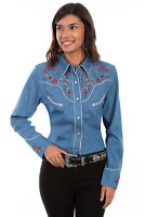 Scully Women's Western Embroidered Shirt PL-879